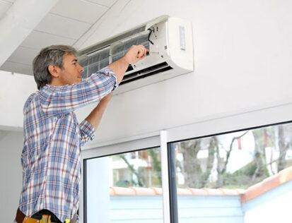 How To Install a Split Air Conditioner System.  Back to back installation